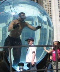 Акриловый аквариум сферической формы абсолютно прозрачен, что позволяет следить за состоянием Блейна со всех сторон