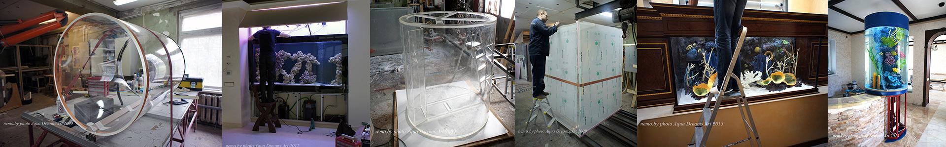 Производство аквариумов из акрила