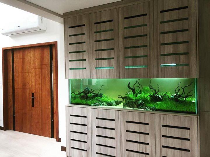 аквариум до потолка