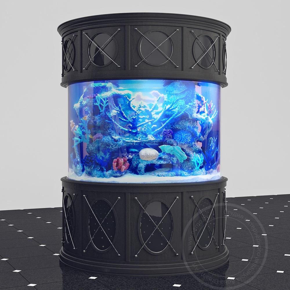 Проект цилиндрического аквариума