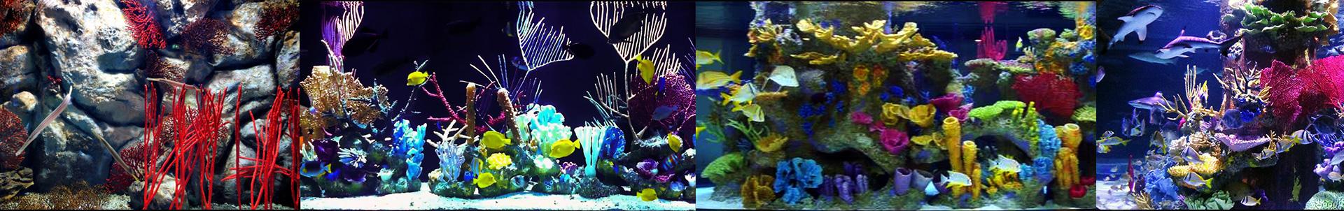 Искусственные кораллы в аквариуме