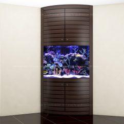 Эскиз углового аквариума
