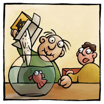 Кормите рыб, а не аквариум!