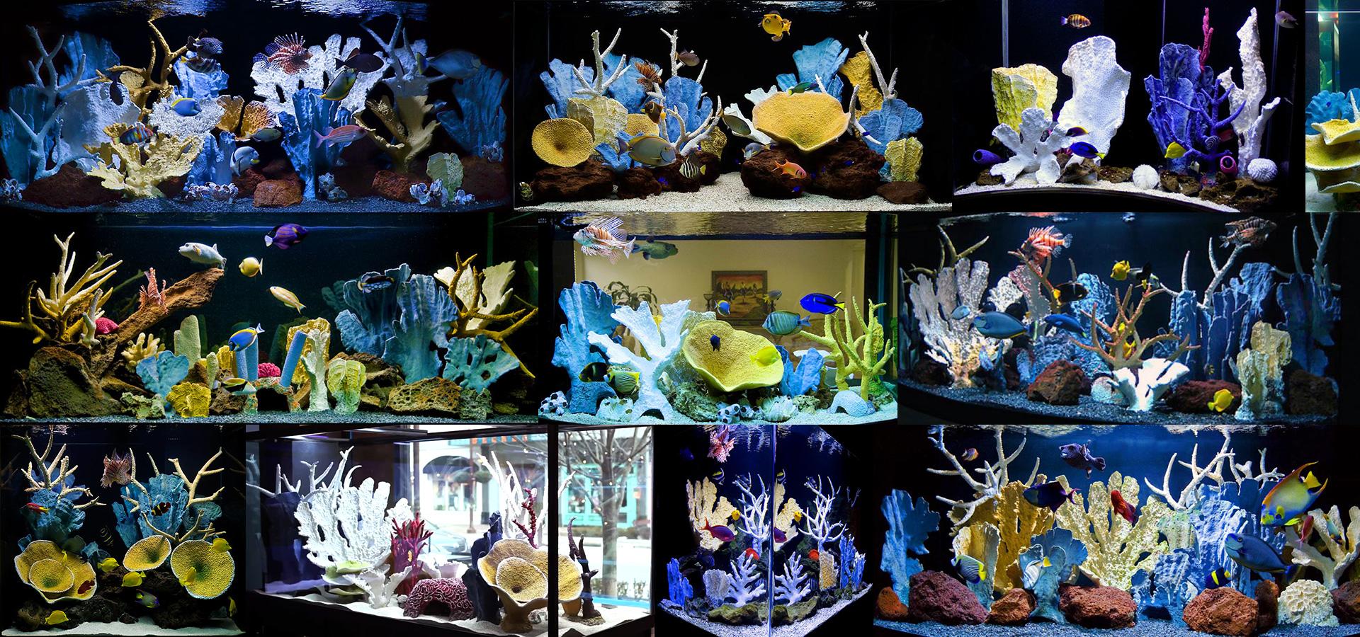 Оформление больших аквариумов