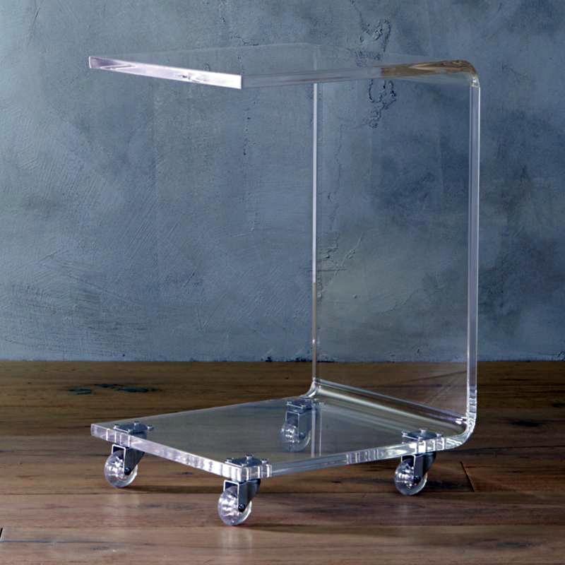 Прозрачный стол для ноутбука