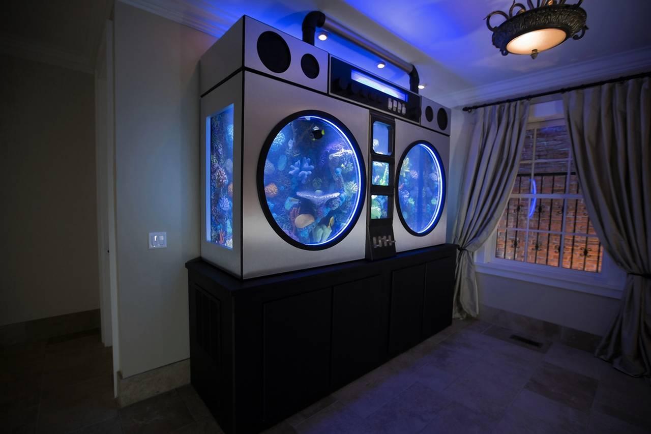 Самые дорогие аквариумы в частном интерьере