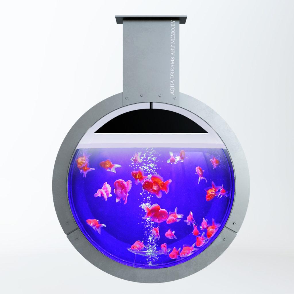 проект круглого аквариума